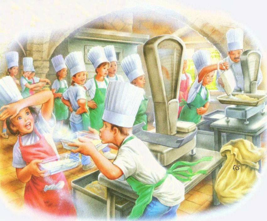 Nuage de farine - Peser farine sans balance ...