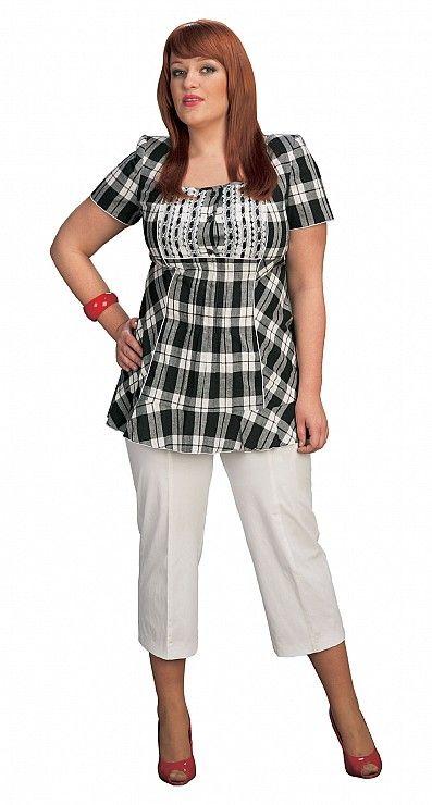 Mode femmes rondes page 10 for Tunique a carreaux